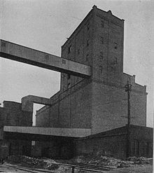 old photo showing the whole elevator
