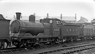 GCR Class 9D - No. 5155 at Northwich Locomotive Depot 1947