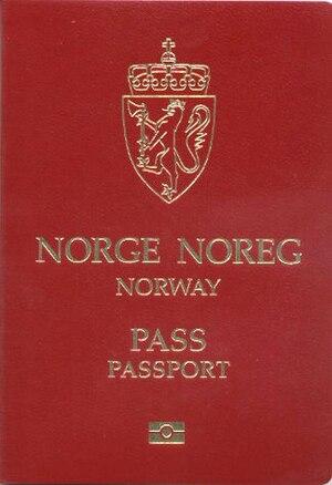 Norwegian passport - The front cover of a contemporary Norwegian ePassport