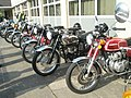 Nostalgia inducing motorbikes awaiting the start of the 2009 Havant Mayor's Rally (4) - geograph.org.uk - 1259813.jpg