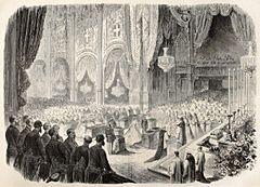La celebrazione delle nozze di Margherita e Umberto nel duomo torinese di San Giovanni