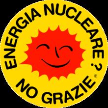 Il Sole che ride, simbolo del movimento anti-nucleare.