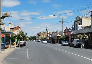 Numurkah Town in Victoria, Australia
