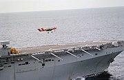 OV-10A Bronco of VMO-1 takes off from USS Nassau (LHA-4), in 1983 (6429213)
