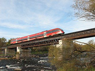 O-Train - Trillium Line crossing Rideau River.