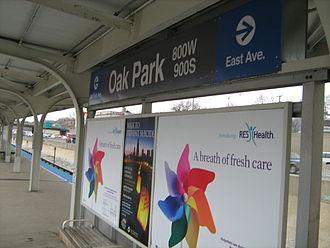 Oak Park station (CTA Blue Line) - Image: Oak Park CTA Blue Line