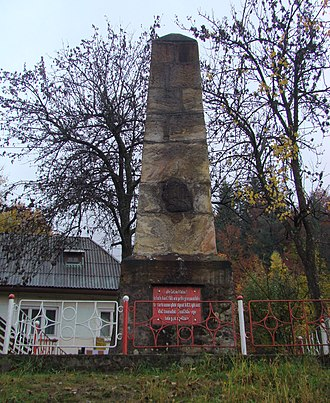 "Cavnic - ""Tatar Pole"" - monument erected to celebrate the 1717 victory against the Tatars"