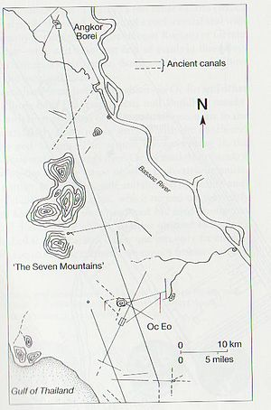 An Phú District - Map of Oc Eo and Angkor Borei. An Phu on the route.