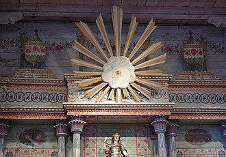 Mission San Miguel Arcángel - Image: Ojo