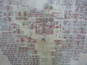 History of Ulaanbaatar - Detail of 19th-century painting of Urga (Ulaanbaatar)