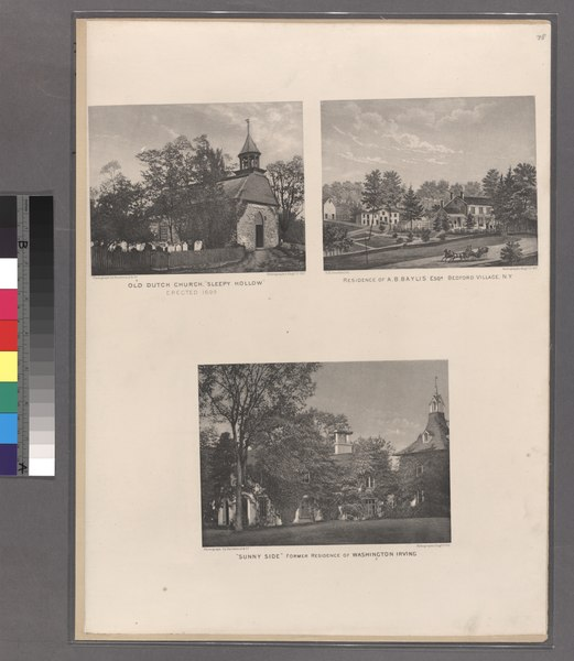 File:Old Dutch Church, Sleepy Hollow, erected 1699 - Residence of A.B. Baylis Esqr., Bedford Village, N.Y. - 'Sunny Side' Former Residenceof Washington Irving. NYPL1516854.tiff