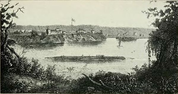 Old Fort Armstrong, on Rock Island - History of Iowa.jpg