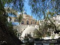 Old Jerusalem Holy Sepulchre and trees.JPG