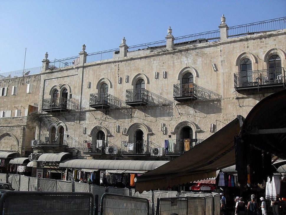 Old Jerusalem balconies near Jaffa Gate