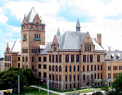 Old Main at Wayne State University in Midtown