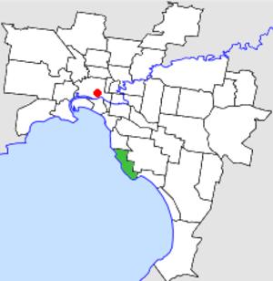 City of Sandringham - Location in Melbourne