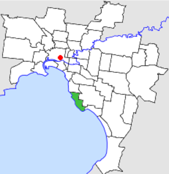 City of Sandringham - Location in Melbourne
