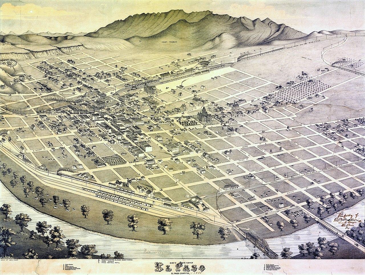 Old El Paso Texas Map
