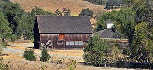 Novato, California - Image: Olompali State Park Burdell Barn 9 30 2012 (4)