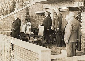1928 Summer Olympics - Prince Hendrik watching the football-match Netherlands–Uruguay (0–2)