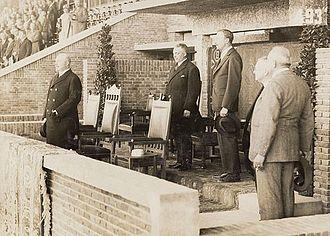 1928 Summer Olympics - Prince Hendrik watching the football-match Netherlands–Uruguay (0–2)