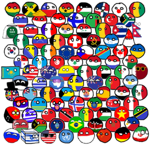 Polandball - A group of characters of Polandball