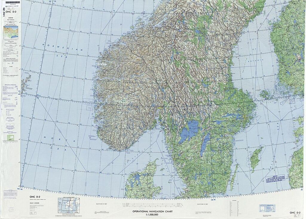 Sea State Chart: Operational Navigation Chart D-2 7th edition.jpg - Wikimedia ,Chart