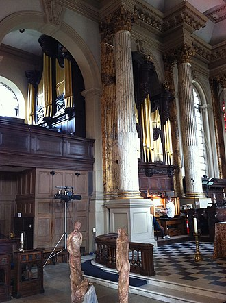 St Philip's Cathedral, Birmingham - The organ in St Philip's Cathedral, Birmingham