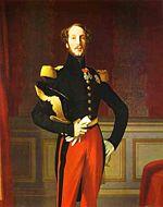 Le Duc d Orléans, figure de la conquête française contre Abd-el-Kader. Il participe à de nombreuses batailles et est blessé à la bataille de l Habrah en 1835. Une statue équestre à sa mémoire est érigée à Alger en 1845.