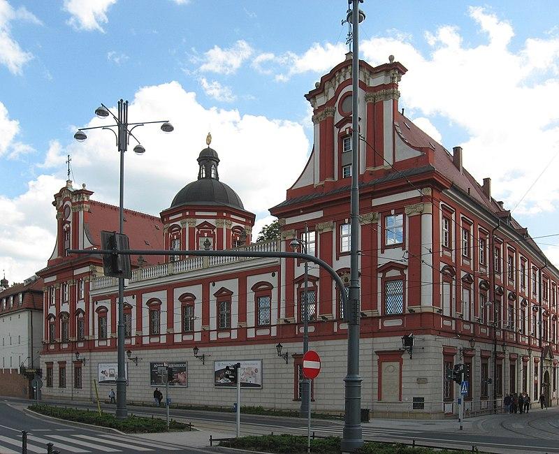 Zakład Narodowy im. Ossolińskich we Wrocławiu (od ul. Grodzkiej)