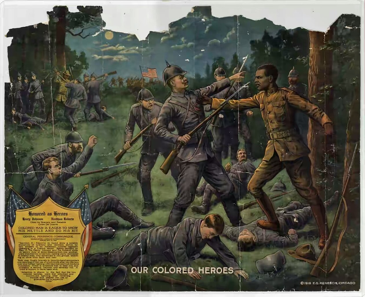 File Our Colored Heroes 1918 By E G Renesch Of Chicago