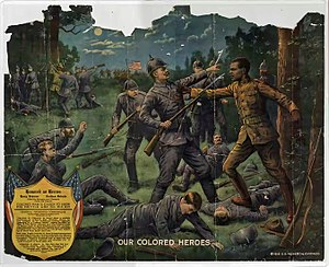 Henry Johnson (World War I soldier) - A 1918 lithograph dramatizing Johnson's actions in the war