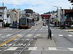 Outbound train at Taraval and Sunset, May 2018.JPG
