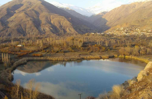 Ovan Lake - Ovan Lake and surrounding mountains