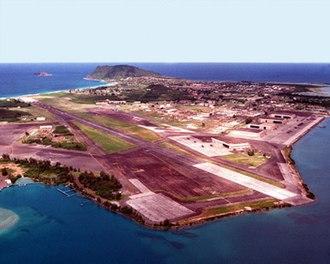 Marine Corps Air Station Kaneohe Bay - Aerial photograph of MCAF Kaneohe Bay.
