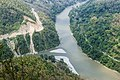 Overlooking the confluence of Teesta River and Rangeet River from Lover's Point, West Bengal.jpg