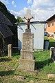 Overview of wayside cross Boh. Sedláčka in Hostákov, Vladislav, Třebíč District.jpg