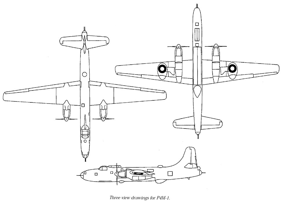 P4M-1 3-side drawing