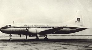Pakistan International Airlines - A Convair CV-240 at Karachi Airport, circa 1950