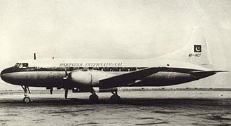Pakistan International Airlines - A Convair CV-240 at Karachi Airport, circa 1950