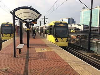Pomona tram stop tram stop on the Metrolink system in Manchester, England