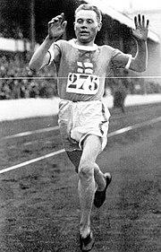 Paavo Nurmi at the 1920 Summer Olympics.
