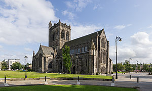 Paisley Abbey - Image: Paisley Abbey from North West Leaning western gable 125mp