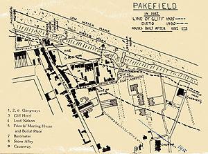 Pakefield - Image: Pakefield erosion