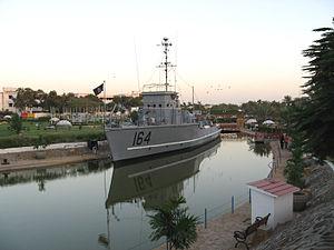 Pakistan Maritime Museum - Pakistan Navy's Minesweeper PNS Mujahid (M164)
