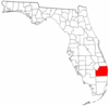 Location of Palm Beach County