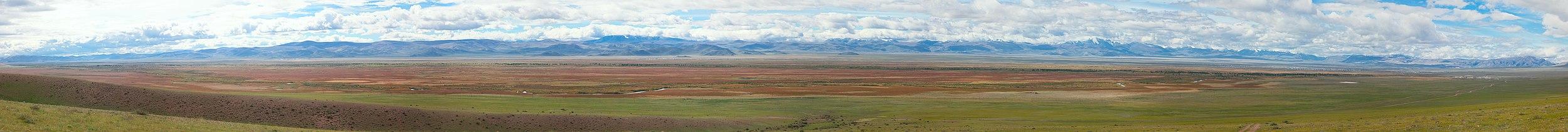 Панорама ВСЕЙ Чуйской степи