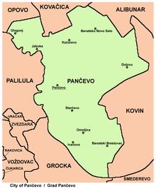 kacarevo mapa Pančevo – Wikipédia, a enciclopédia livre kacarevo mapa