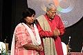 Pandit Rajan Mishra with Vijayalakshmi Sadhau at Bharat Bhavan Bhopal 01.jpg