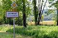 Panneau d'entrée dans Leymiat - hameau de Poncin.JPG